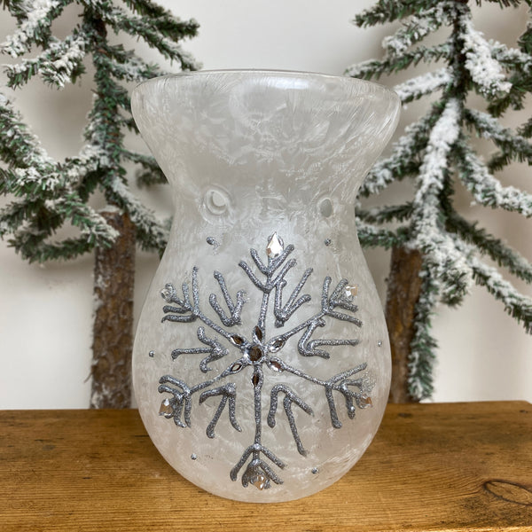 Glass Oil Burners - Snowflake