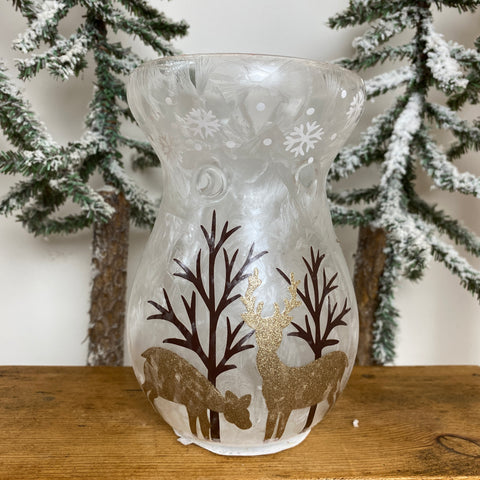Glass Oil Burners - Gold Reindeer