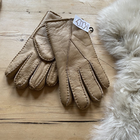 Mens Sheepskin Gloves - Taupe