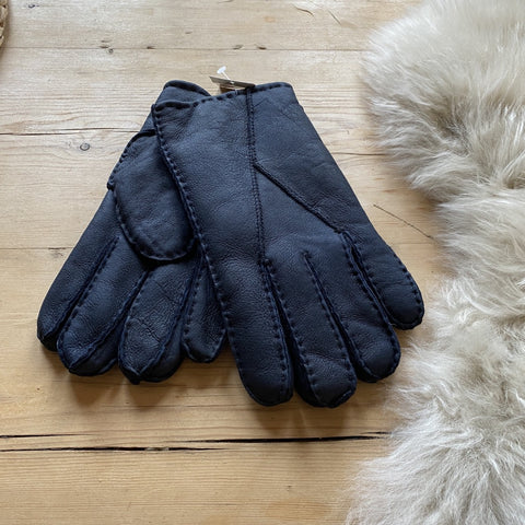 Mens Sheepskin Gloves - Black