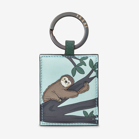 Leather Sloth Keyring