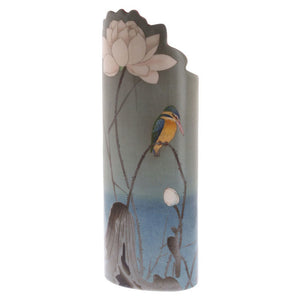 Koson Kingfisher with Lotus Beswick Vase