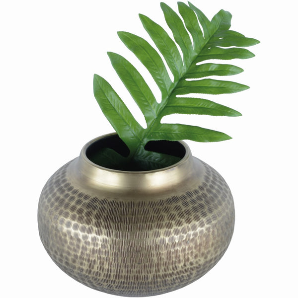 Antique Brass Effect Chinar Planter