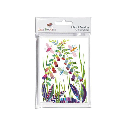 Set of 8 Notelets - Foxgloves