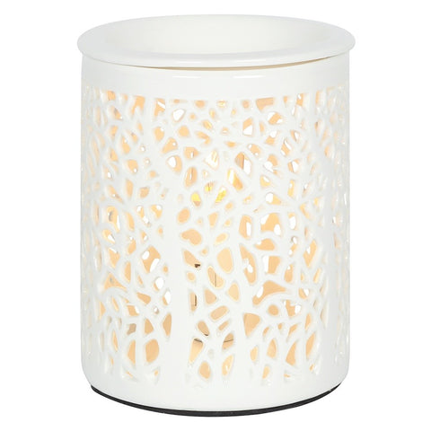 Electric Ceramic Oil Burner - Tree Silhouette