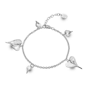 Silver Bracelet with Heart Shapes