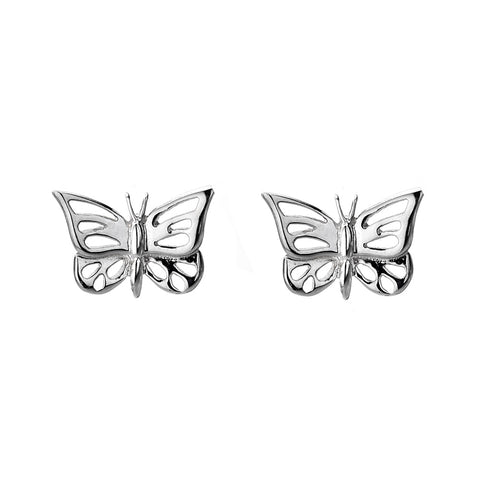 Silver Butterfly Studs