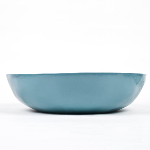 Large Ceramic Bowl - Petrol Blue