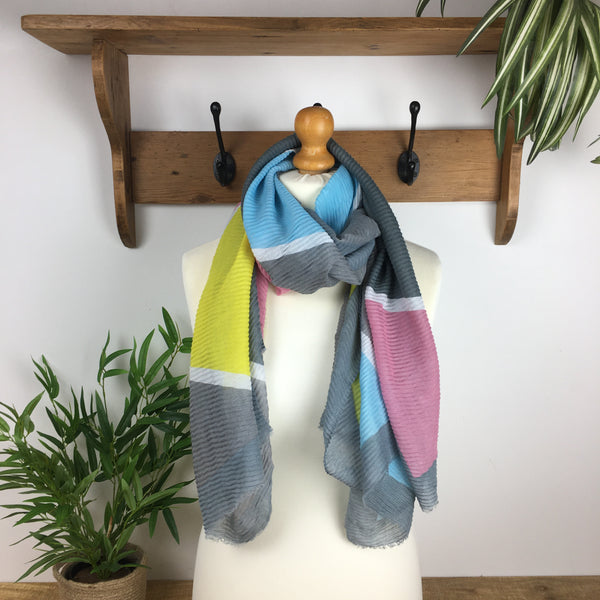 Felicity Scarf - Yellow & Pink