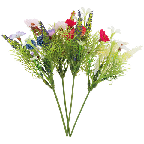 A set of 4 Artificial Flower Bouquets