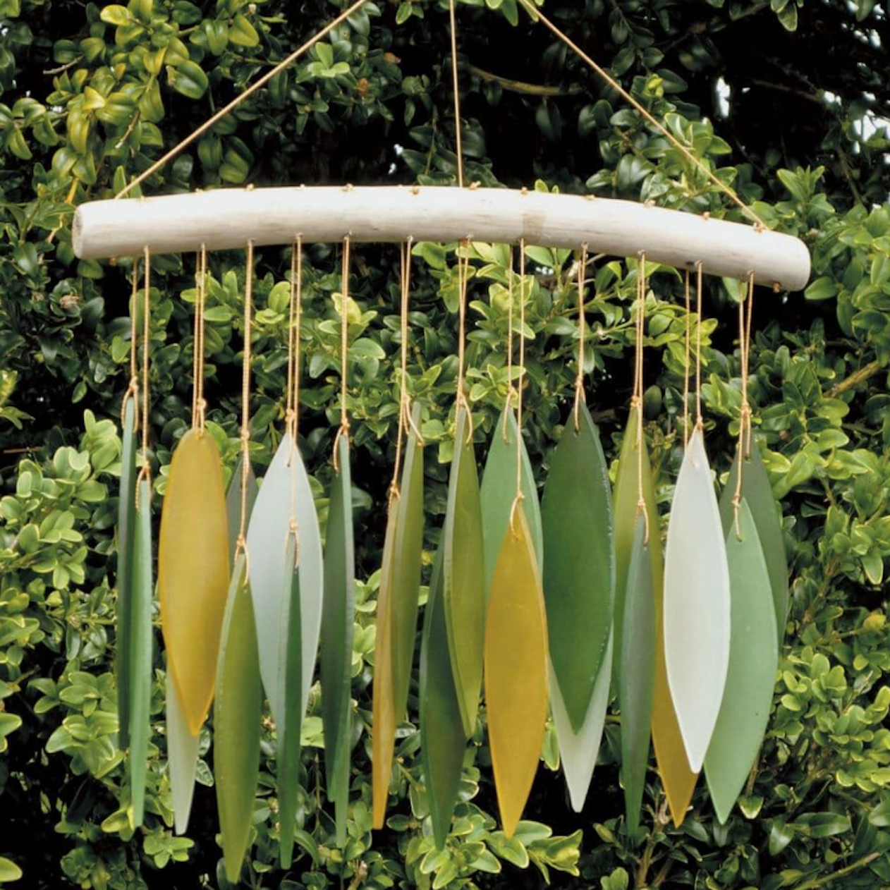 Wind chime  'Leaves' - Greens