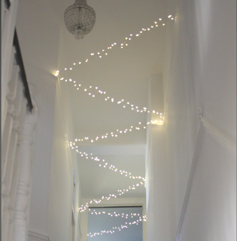 Mains Indoor / Outdoor Cluster LED Light Chain - 7.5m