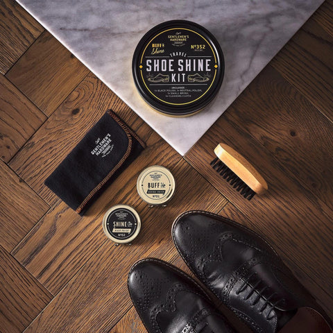 Travel Shoe Shine Kit Tin