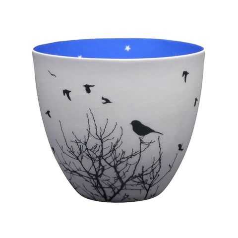 Porcelain Tea-light Holder - Silent Night - Two Sizes Available