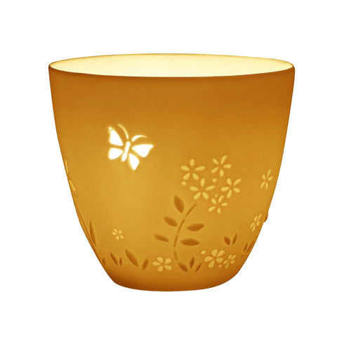 Porcelain Tealight Holder - Butterflies