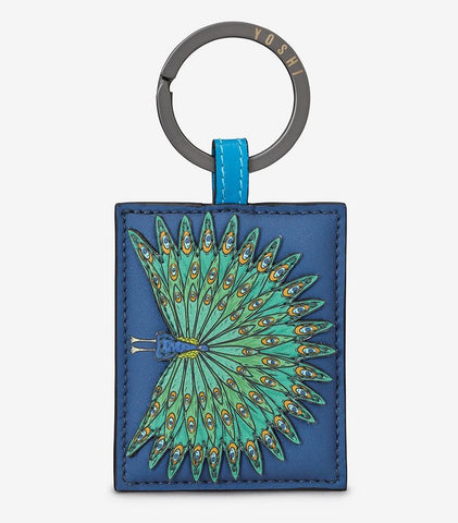 Leather Peacock Keyring