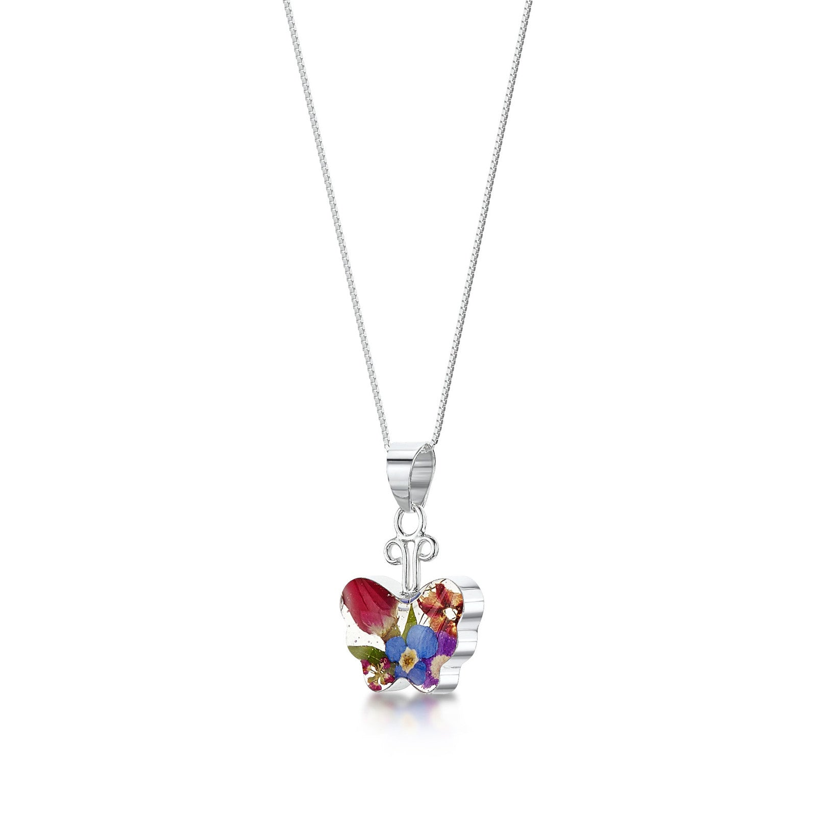 Mixed Real Flower Necklace - Butterfly
