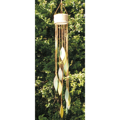 Glass Wind Chime Spiral - Green