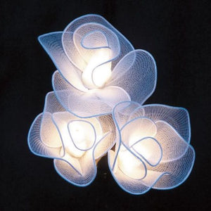 Small Rose Fairy Lights - White
