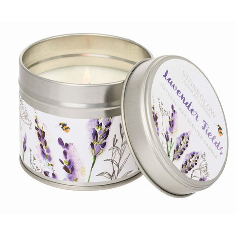 Stoneglow Botanics Candle in a Tin - Lavender Fields