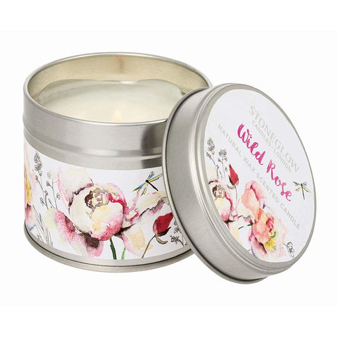 Stoneglow Botanics Candle in a Tin - Wild Rose