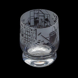 Etched Glass Tumbler  -  Gardening