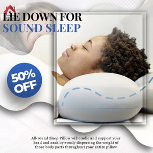 Multifunctional All-Round Sleep Pillow (With Pillow case and Pillow bag)