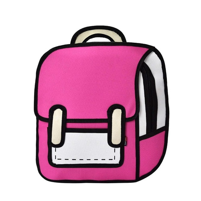Fashion Backpack Creative 3D Jump Style School Bag