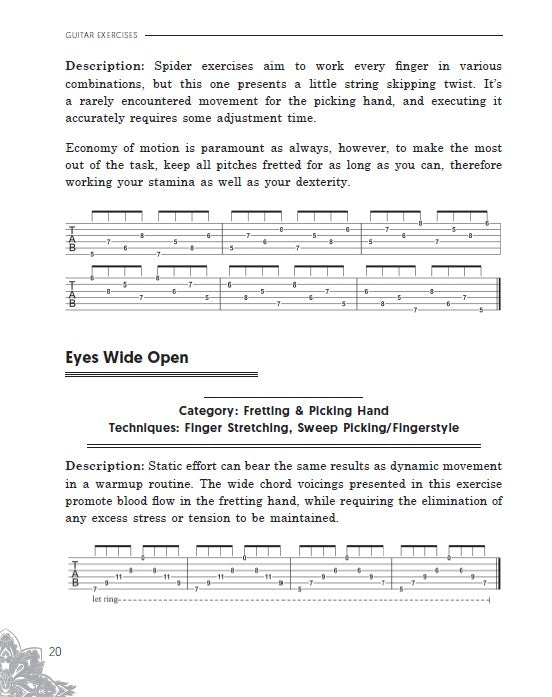 Guitar Exercises: 10x Your Guitar Skills in 10 Minutes a Day: An Arsenal of 100+ Exercises for All Areas