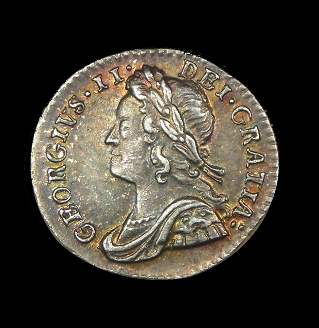1757 Great Britain Maundy Penny