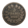 1832-1848 France 5 Francs - Louis Philippe
