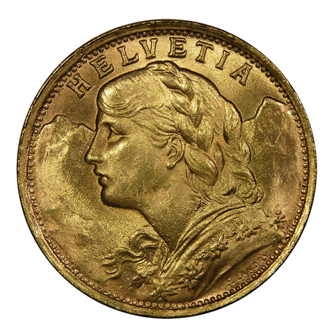 1897-1935 Switzerland Gold 20 Francs