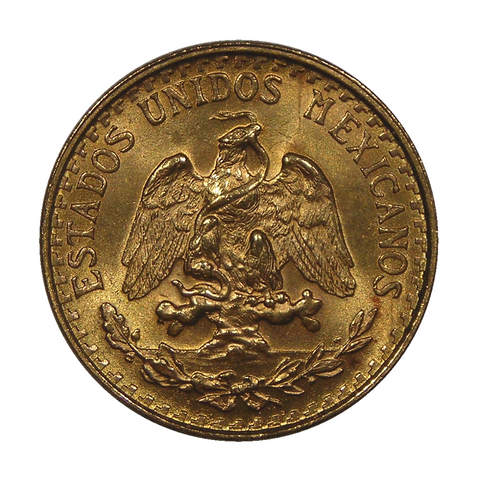 1919-1946 Mexico Gold 2 Pesos