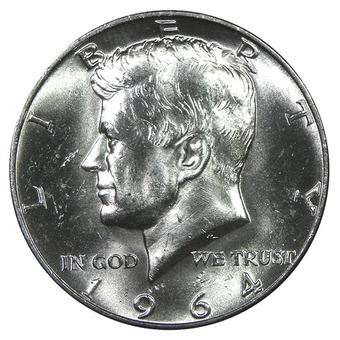 1964 U.S. Kennedy Silver Half Dollar, Choice Brilliant Uncirculated Condition