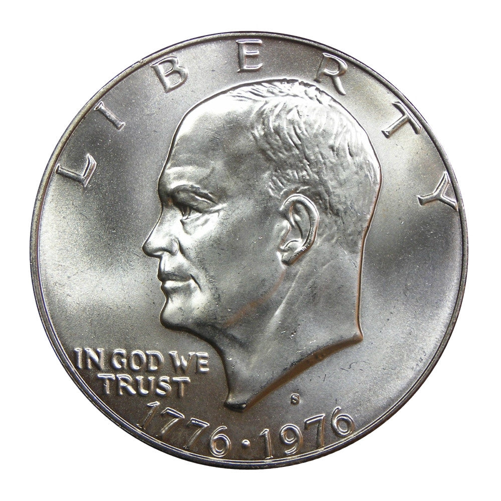 1976-S U.S. Eisenhower Dollar (40% Silver), Choice Brilliant Uncirculated Condition