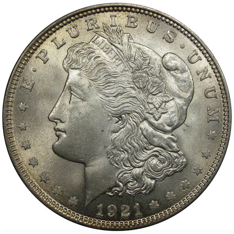 1921 U.S. Morgan Silver Dollar, Choice Brilliant Uncirculated Condition