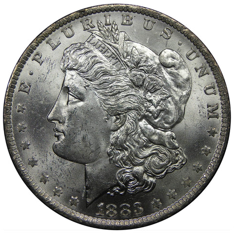 1878-1904 U.S. Morgan Silver Dollar, Choice Brilliant Uncirculated Condition