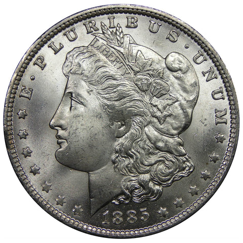 1878-1904 U.S. Morgan Silver Dollar, Gem Brilliant Uncirculated Condition