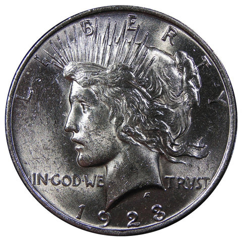 1922-1925 U.S. Peace Silver Dollar, Brilliant Uncirculated Condition