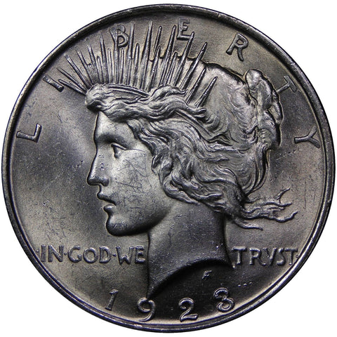 1922-1925 U.S. Peace Silver Dollar, Choice Brilliant Uncirculated Condition