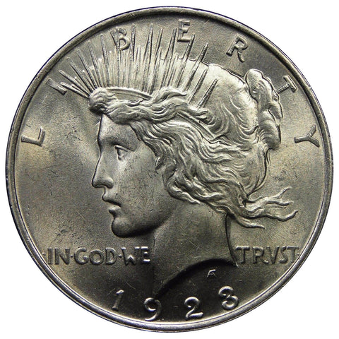 1922-1925 U.S. Peace Silver Dollar, Gem Brilliant Uncirculated Condition