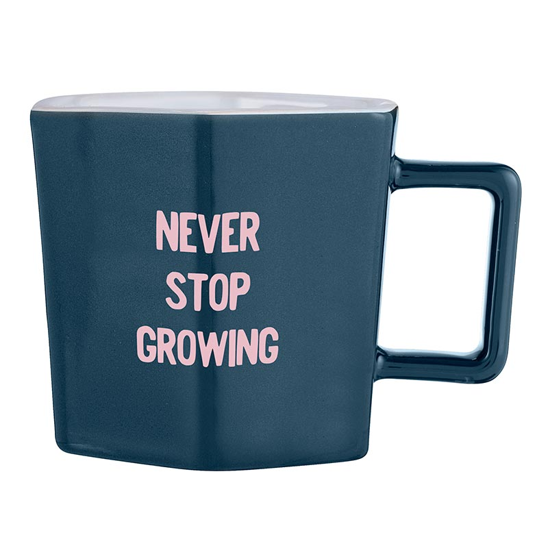 Never Stop Growing Hexagon Tea Cup & Saucer