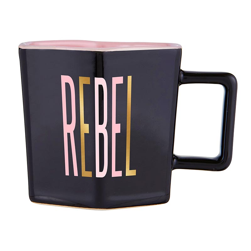 Rebel Hexagon Tea Cup & Saucer