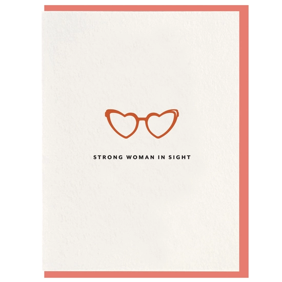 Strong Woman In Sight Card