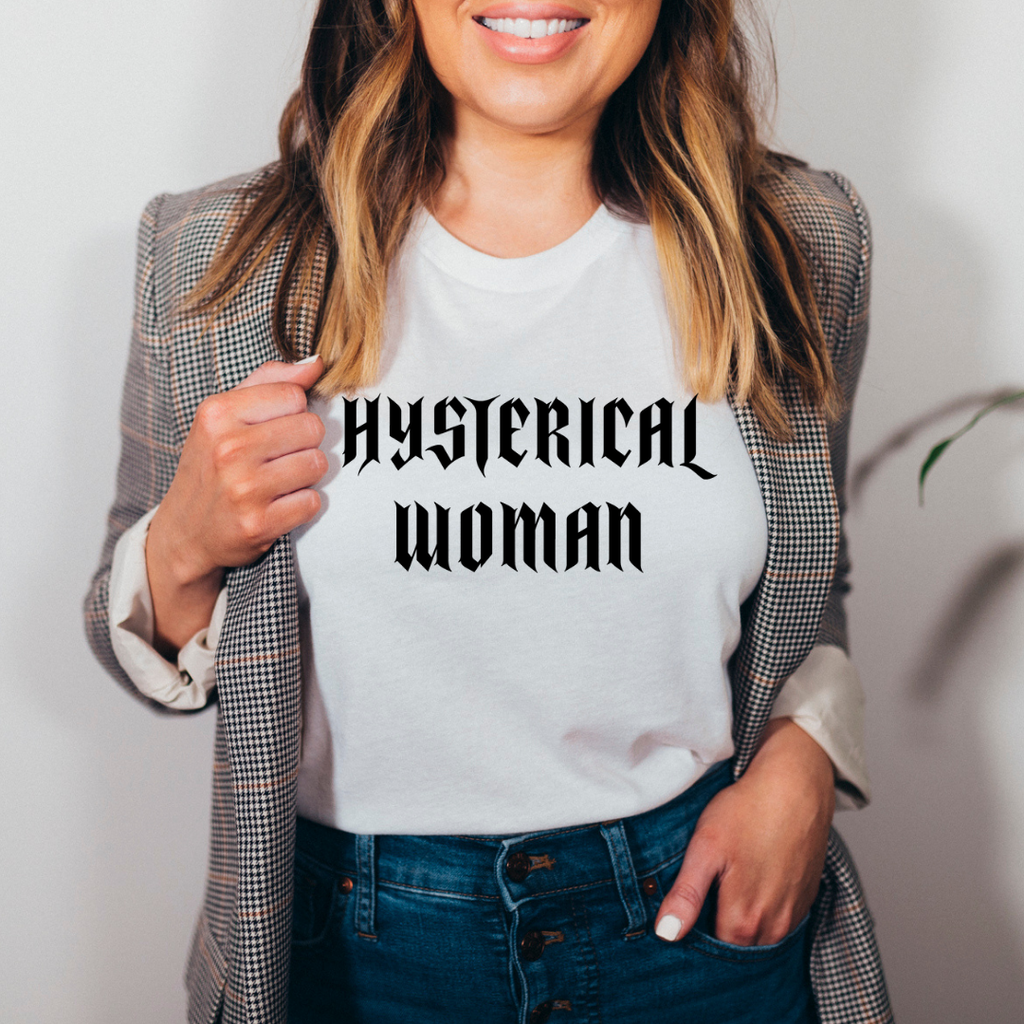 Tamara Taggart x Madame Premier Hysterical Woman Charitable White T-Shirt
