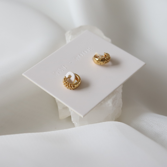Blossom Gold Huggie Earrings