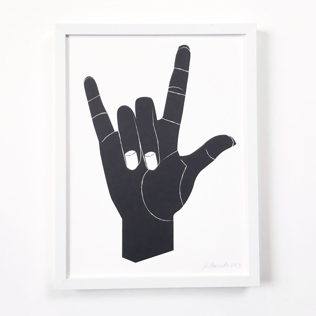 I Love You - American Sign Language Print