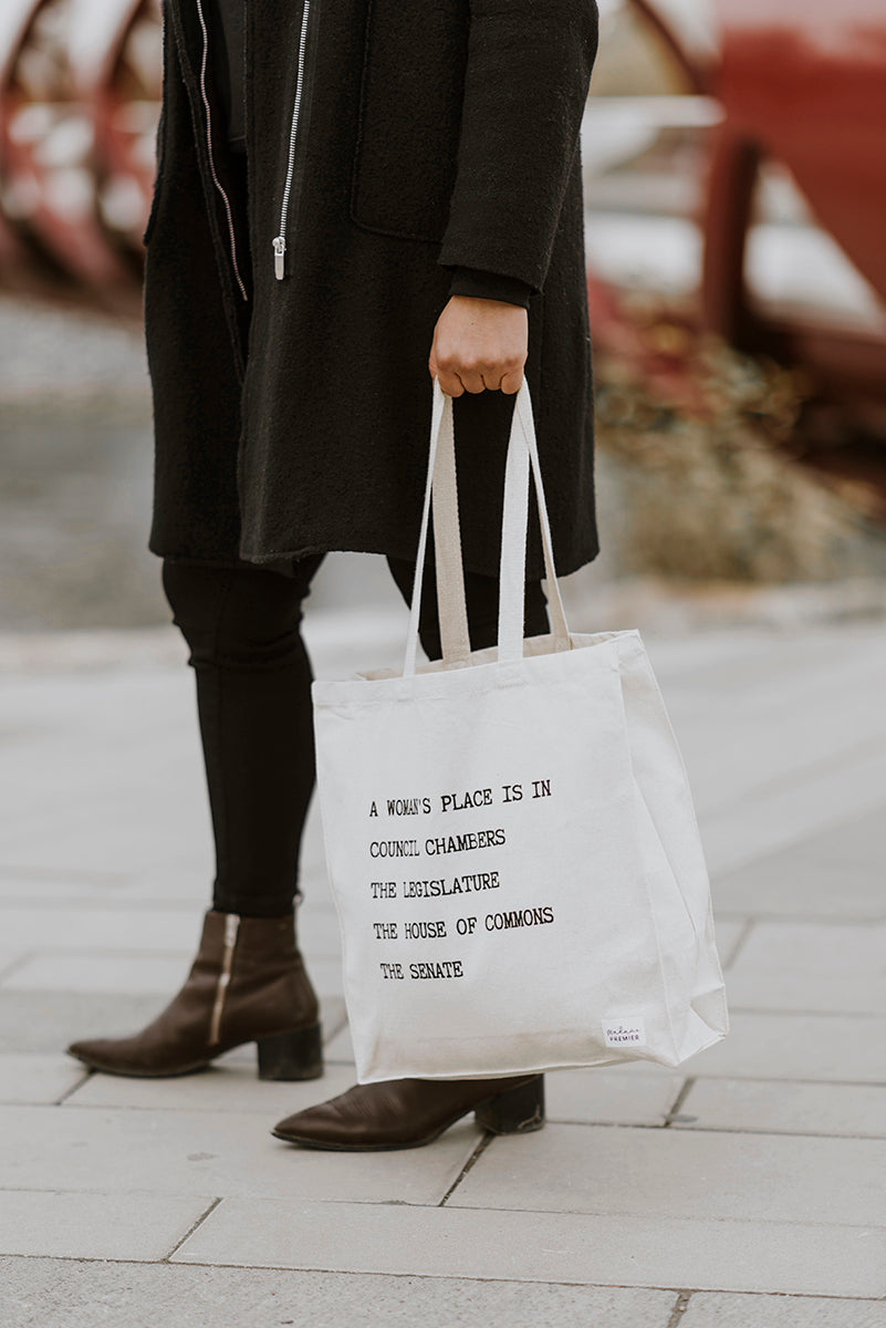 A Woman's Place Is In Tote Bag