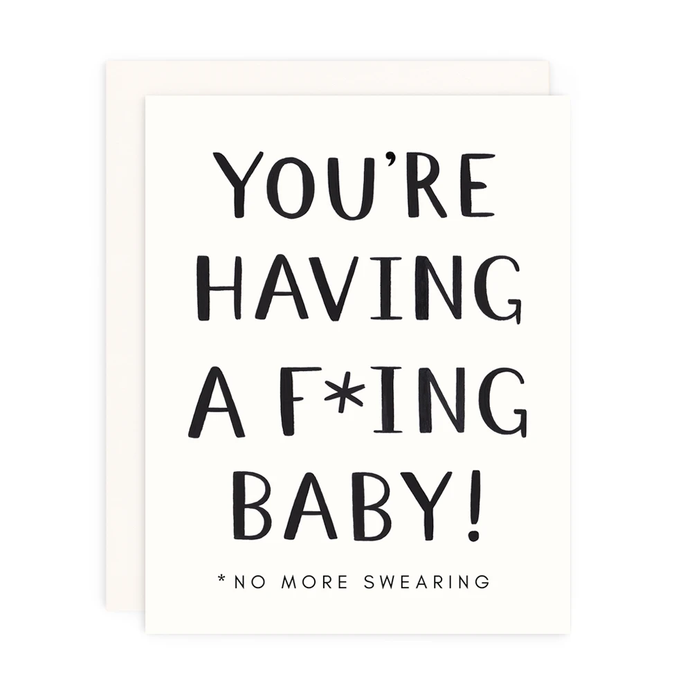 You're Having a F*cking Baby Card