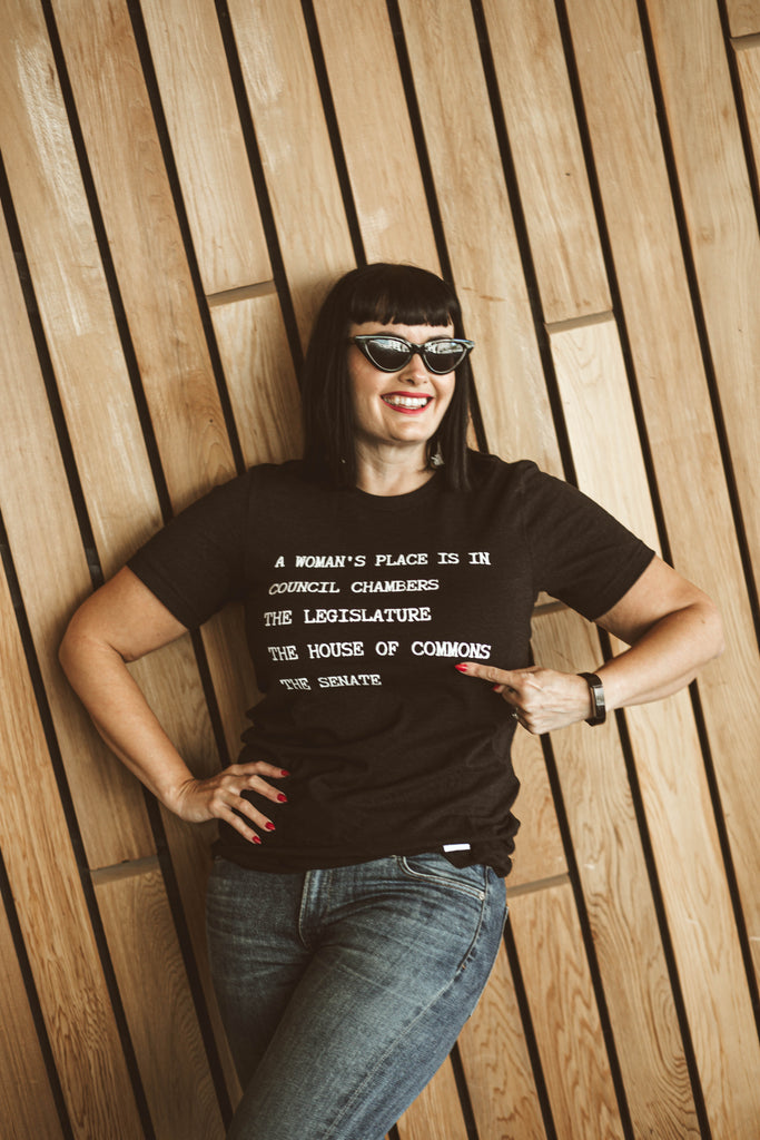 A Woman's Place Adult T-Shirt